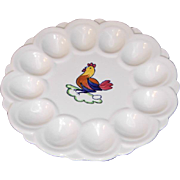 Blue Ridge Deviled Egg Dish in Peasant Village Pattern