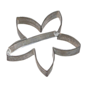 Folky c. 1800s Tin Flower Cookie Cutter