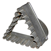 Corrugated/Scalloped Edged Tin Triangle Shape Biscuit/Cookie Cutter