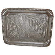 19th Century Pressed - Stamped Tin Tray