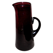 Hand-blown Amethyst Tankard/Pitcher
