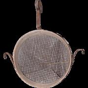 Vintage Bentwood Oak Grain Sifter w/Handle and Side Hooks