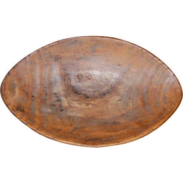 19th Century Elliptical Wooden Trencher/Bowl