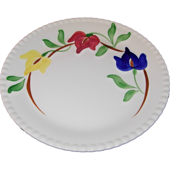 Carnival Pattern 9 ¼ Inch Dinner Plate by Blue Ridge Southern Potteries