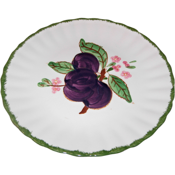 County Fair Plum Pattern Dessert/Salad Plate by Blue Ridge Southern Potteries
