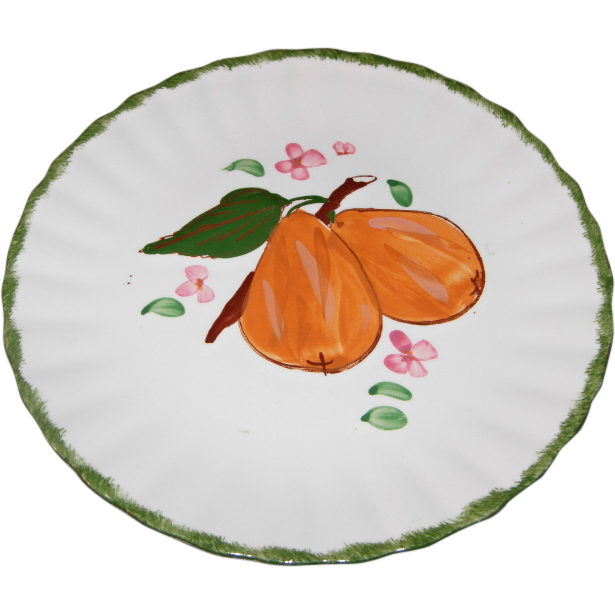 "County Fair ""Pears"" Pattern Dessert/Salad Plate by Blue Ridge Southern Potteries"