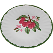 County Fair Cherries Pattern Dessert/Salad Plate by Blue Ridge Southern Potteries