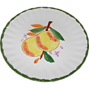"County Fair ""Peach"" Pattern Dessert/Salad Plate by Blue Ridge Southern Potteries"