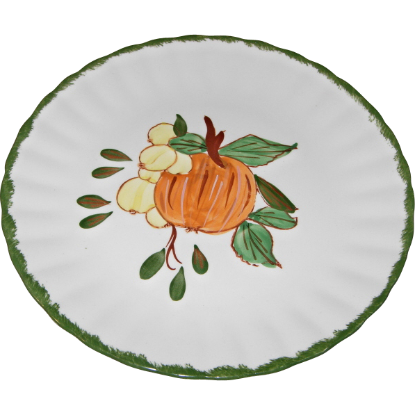 "County Fair ""Gooseberry"" Pattern Dessert/Salad Plate by Blue Ridge Southern Potteries"