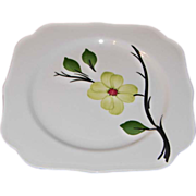 Southern Dogwood Chartreuse Square Dessert/Salad Plate by Blue Ridge