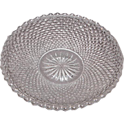Early American Sandwich Pattern Glass Cup Plate – Diamond Point