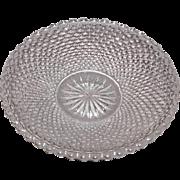 Early American Sandwich Pattern Glass Cup Plate – Diamond Point