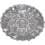Early American Sandwich Pattern Glass Cup Plate – Henry Clay