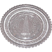Early American Sandwich Pattern Glass Cup Plate – Bunker Hill