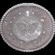 Early American Sandwich Pattern Glass Cup Plate – Lee 331 Butterfly Design
