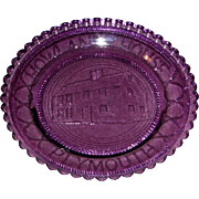 Early American Lavender Sandwich Pattern Glass Cup Plate – Howland House