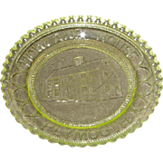 Early American Yellow Sandwich Pattern Glass Cup Plate – Howland House Plymouth