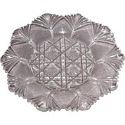 Early American Sandwich Pattern Glass Cup Plate – Fan Edged