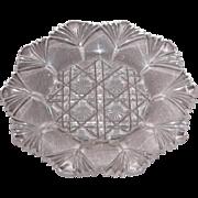 Early American Sandwich Pattern Glass Cup Plate – Fan Edged