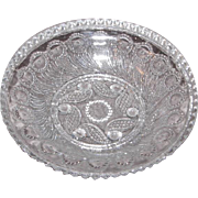 Early American Sandwich Pattern Glass Sauce Bowl – Peacock Feather