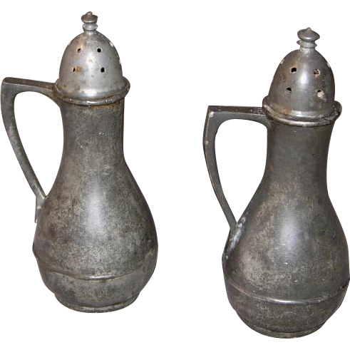 Federal Pewter Salt & Pepper Shakers