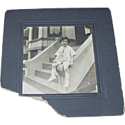 Photo Cabinet Card Young Boy in Middy