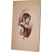 Sassy Little Girl Photo Cabinet Card