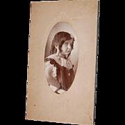 Sassy Little Girl Photo Cabinet Card