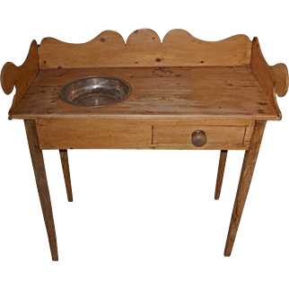 Antique English Pine Washstand