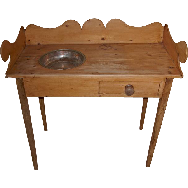 Antique English Pine Washstand
