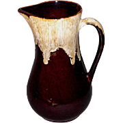 Vintage Roseville Brown Drip Glaze Stoneware Pitcher