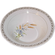 American Limoges Vegetable Bowl in Wheatfield Pattern by Triumph