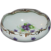 Violet Pattern Open Sugar Bowl