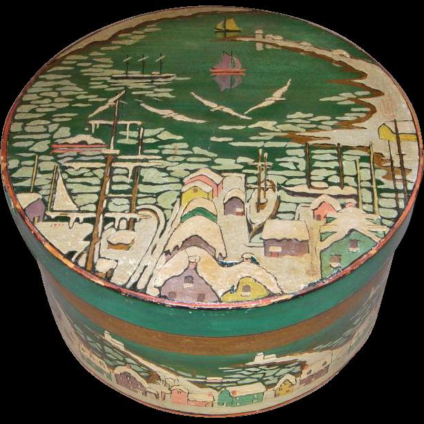19th century Scandinavian Painted Pantry Box