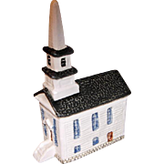 Hand Painted John Putnam Heritage Houses A3. New England Church