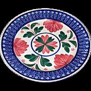 Circa 1900s Maestricht Bulls Eye Stick Cut Sponge Spatter Ware Plate
