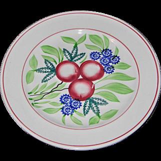 19th c Stick Spatter-Cut Sponge Ware Plate