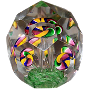 Bohemian Faceted Flower Paperweight
