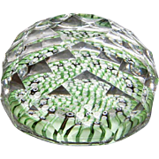Concentric Millefiori Faceted Paperweight