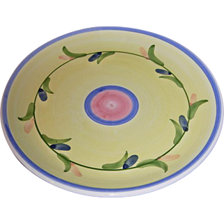 Vintage Carousel Pattern Luncheon Plate by CALECA Italian Pottery