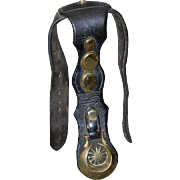 Antique Leather Face/Brow Harness w/Brass Medallions & Studs