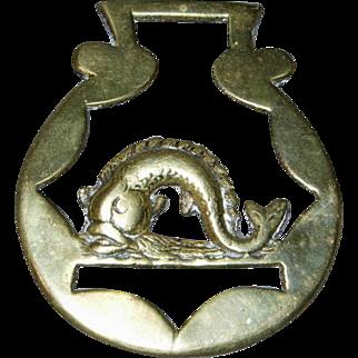 Cast Working Horse Brass with Atlantic Horse Fish (Mackerel)