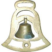 Cast Brass Swinger Bell Brass Horse Harness Medallion