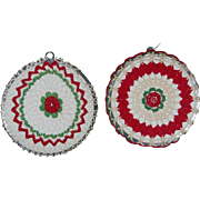 2 Vintage Crocheted Trivets/Hot Pads