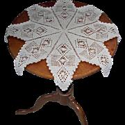 8 Point Star 22 Inch Diameter Hand Crocheted Doily