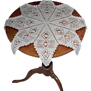 8 Point Star 22 Inch Diameter Hand Crocheted Doily
