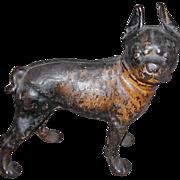 HUBLEY Cast Iron Boston terrier Bulldog Doorstop