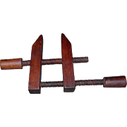 Vintage 4 inch Wooden Clamp