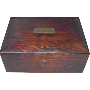 Vintage Humidor Cigar Box with Porcelain Liner