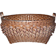 19th Century Maine Native American Splint Curls Basket